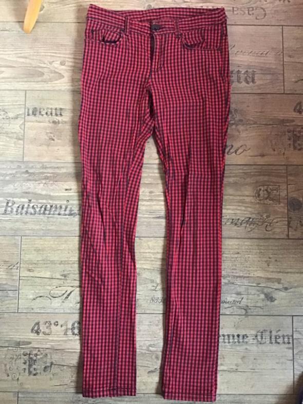 Spodnie H&M 36 S rurki emo kratka bawełniane...