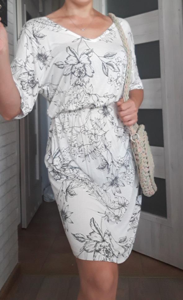 Hm sukienka kwiaty bawełna