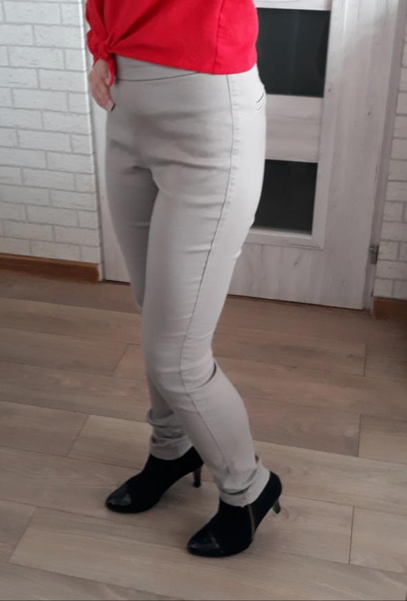 Hm spodnie beżowe spodnie wyższy stan
