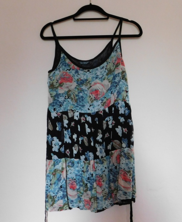 Topshop sukienka mini kwiaty 36