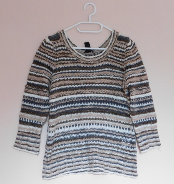 H&M sweter w paski bluzka 38