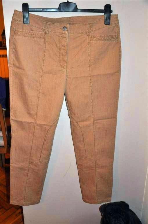 spodnie C&A 46 jak nowe piaskowy kolor