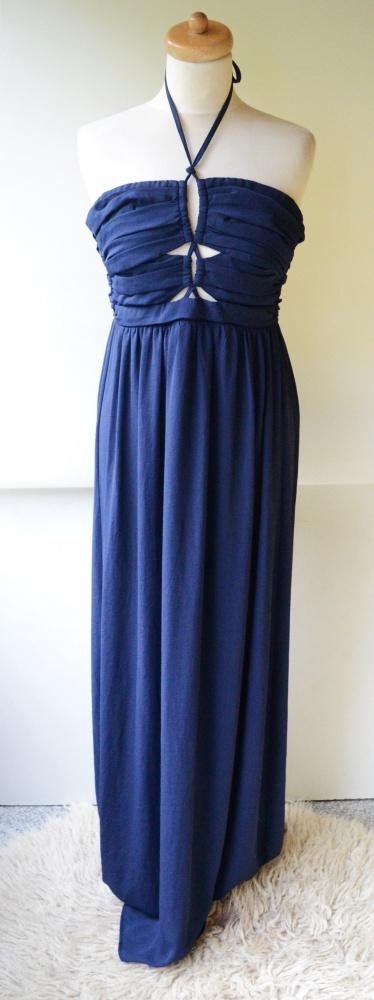 Sukienka Long Maxi Granatowa XS 34 Gina Tricot Wesele...