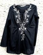 Śliczna z haftem bluzka tunika KappAhl...