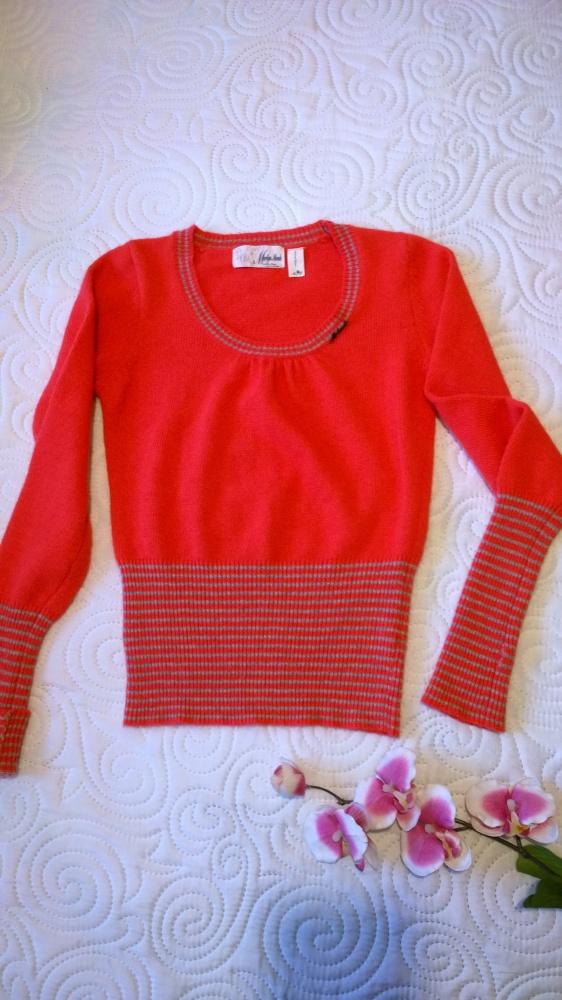 sweterek z angory z mitenkami S...