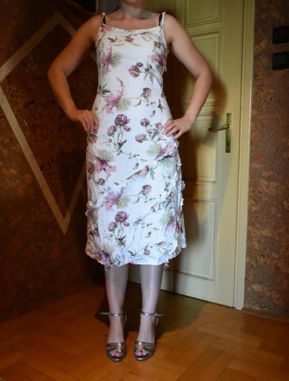 KappAhl sukienka w kwiaty śliczna lniana r 36 S...