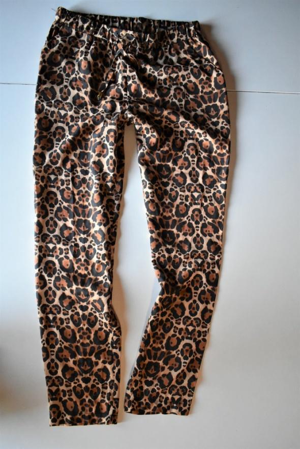 Spodnie Divided H&M r 38 w panterkę Cętki panterka luźne...