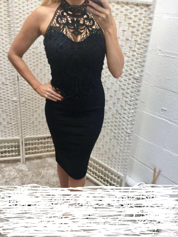Czarna sukienka ołowkowa 34 36