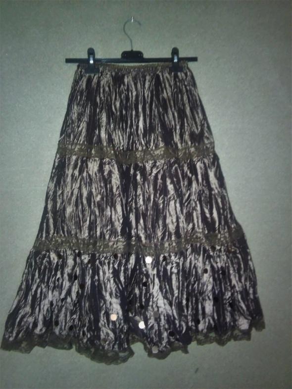 Klasyczna spódnica ołówkowa midi z szerokim paskiem czarna S171