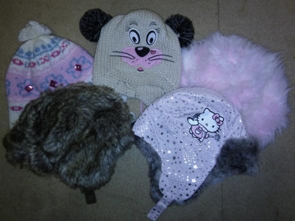 Zimowe czapki dla dziewczynki 3 6 lat...
