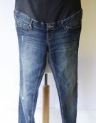 Spodnie H&M Mama Skinny XL 42 Dzinsowe Przetarcia Jeans...