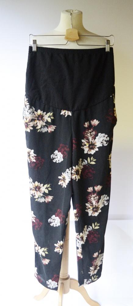 Spodnie Kwiaty Heartbeats M 40 42 Eleganckie Kwiatki Ciążowe