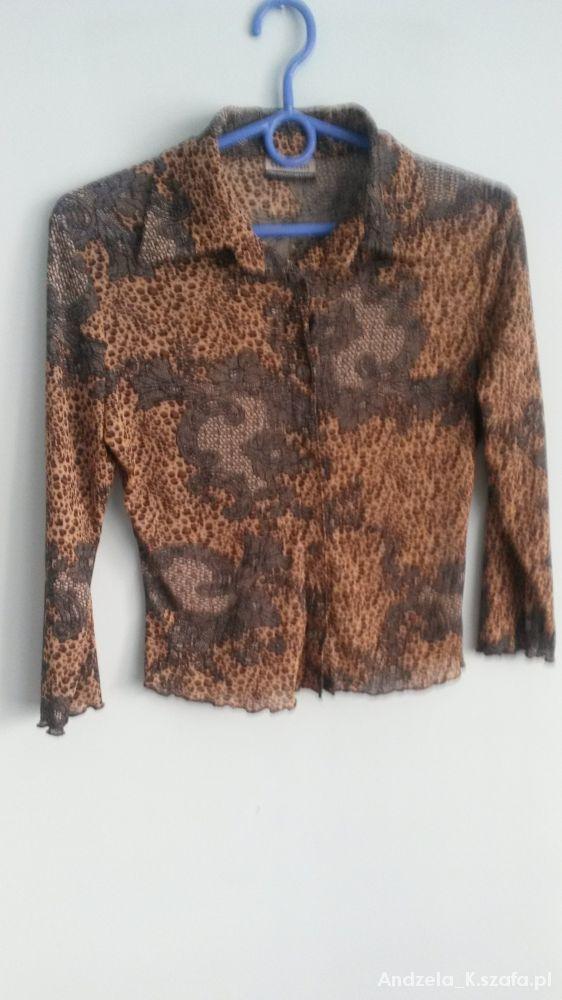 Bluzki Bluzka mgielka w panterke C&A 34
