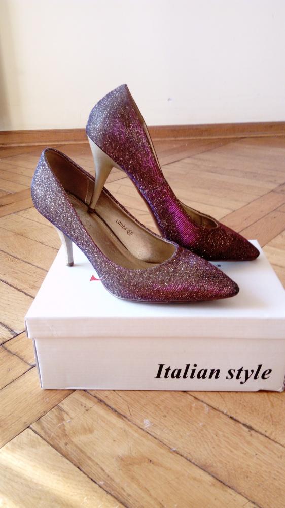 srebrne szplki buty dla księżniczki sylwestrowe...