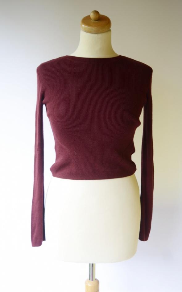 Sweter H&M Divided S 36 Bordowy Krótki Top...