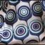 Internationale kolorowa tunika bluzka z wiązaniem 38 M