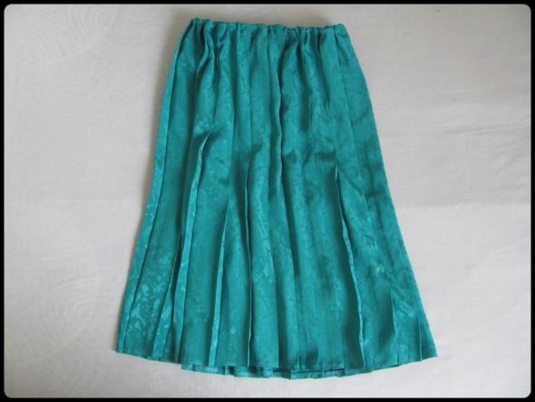 Szmaragdowa plisowana spódnica na gumce 40 i 42 XL