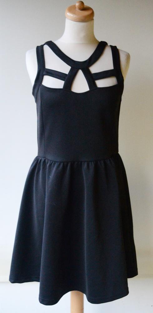 Sukienka Sexy Czarna Cubus Sznurki M 38