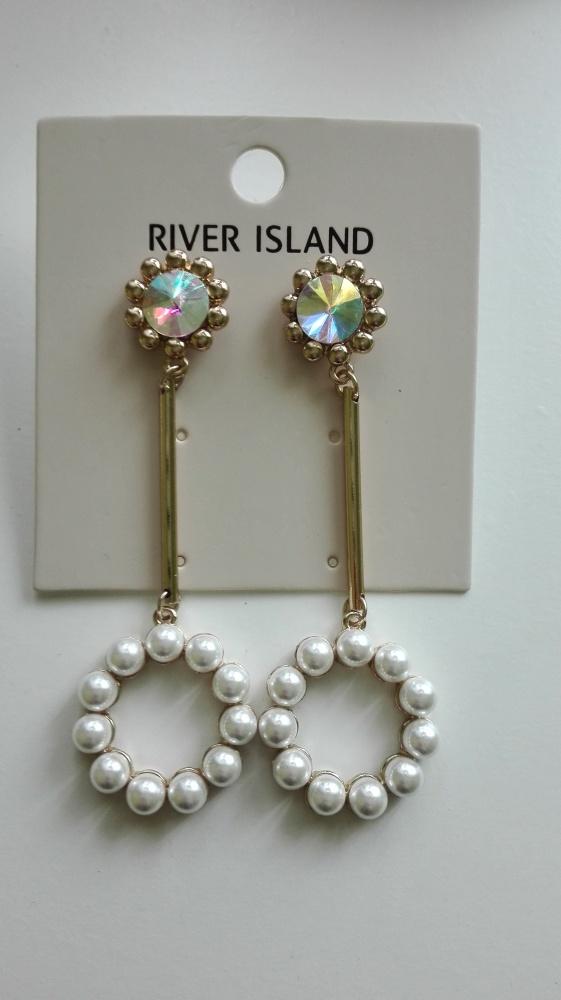 Kolczyki wiszące River Island...