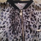 Satynowa bluza panterkowa