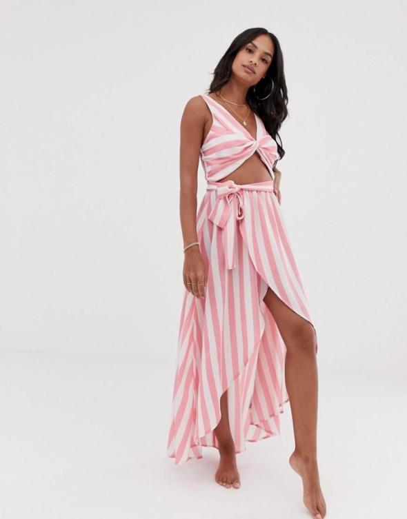 Sukienka plażowa paski xs 34...