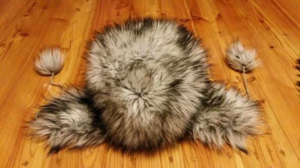 Nakrycia głowy Czapka zimowa z futerka sztucznego