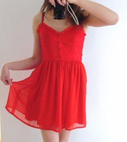 Czerwona sukienka H&M