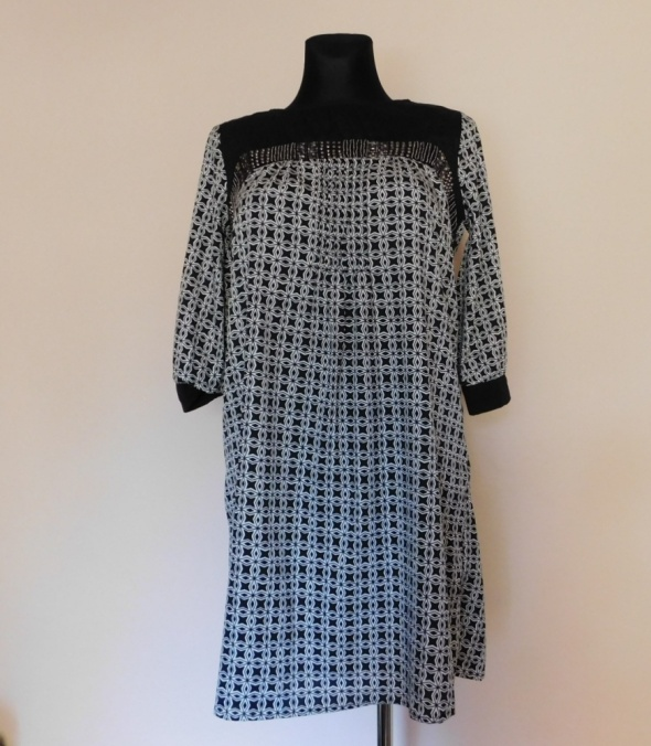 Suknie i sukienki Atmosphere sukienka czarna biała 38