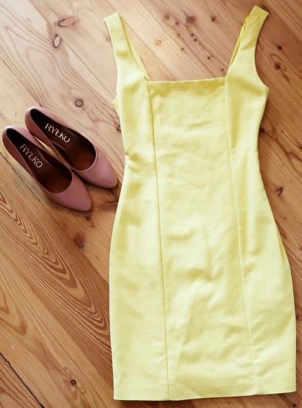 Żółta sukienka ZARA XS 34
