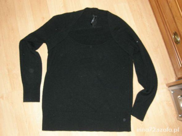 E VIE czarny sweterek z ala bolerkiem 44