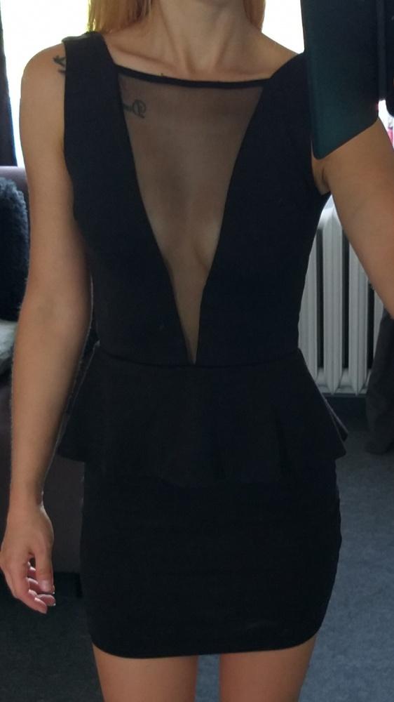 Czarna sukienka z siateczką Club L xs...