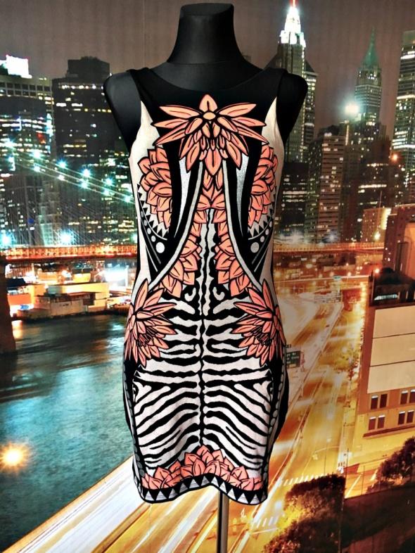river island sukienka mini ciekawy wzór ołówkowa HIT 36 38