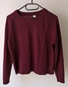 Bordowy sweterek...