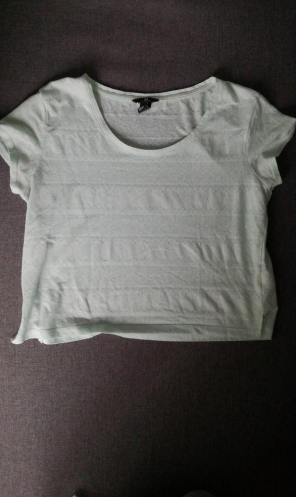 krótka koszulka miętowa