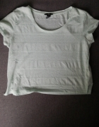 krótka koszulka miętowa...