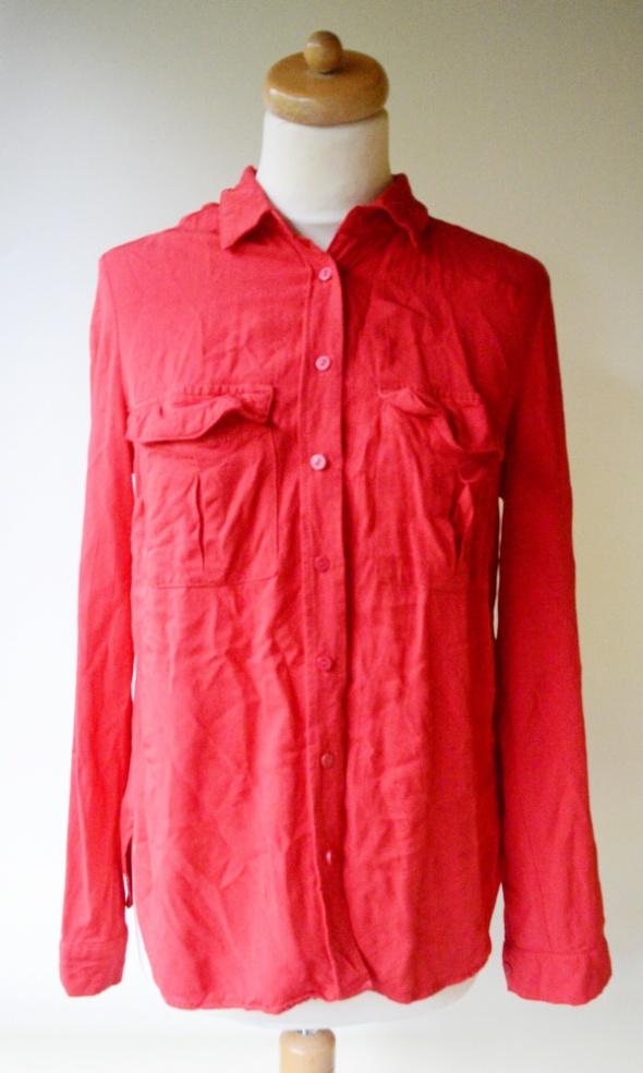 Koszula Czerwona Orsay L 40 Oversize Elegancka Pracy