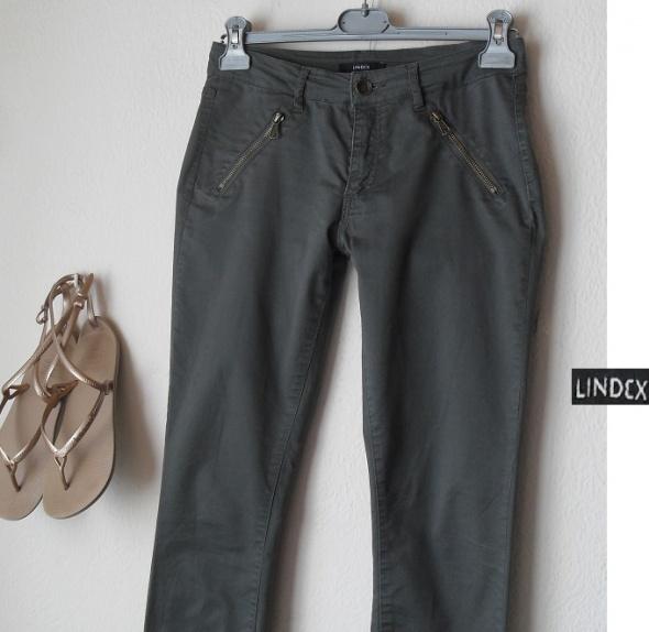 Damskie spodnie khaki zameczki Lindex 40 L
