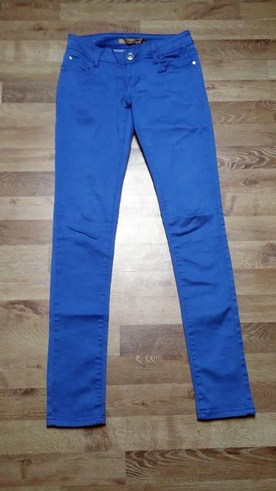 Niebieskie chabrowe spodnie