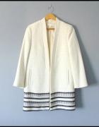 H&M elegancki płaszcz ecru 40...