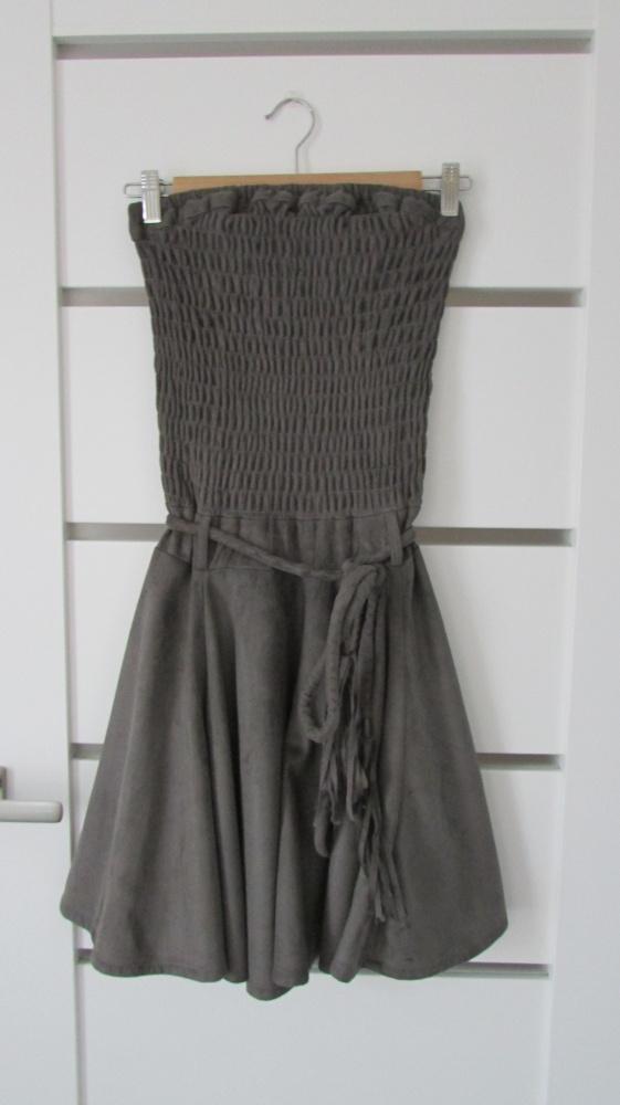 Niepowtarzalna zamszowa sukienka