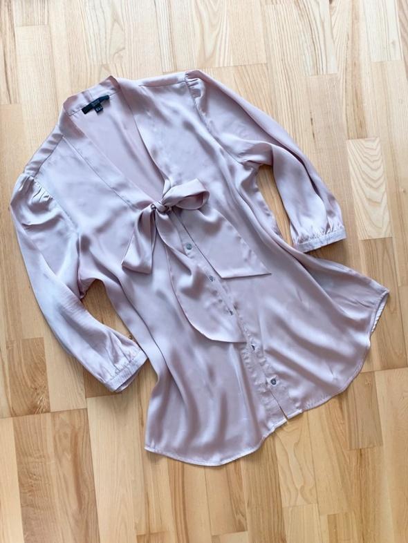 Yessica bluzka satynowa z kokardą nude L...