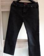 spodnie czarne jeansy xxl...