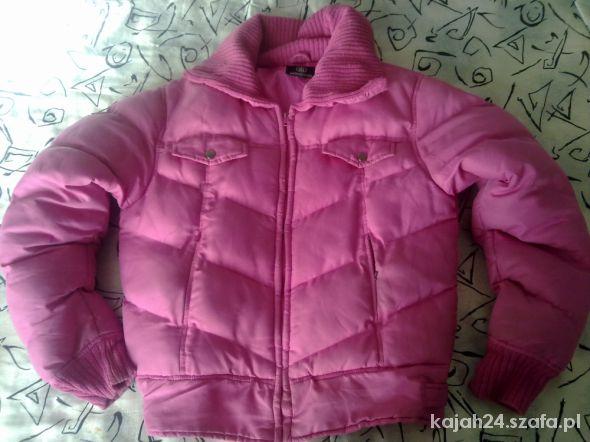 Różowa puchowa kurtka XL