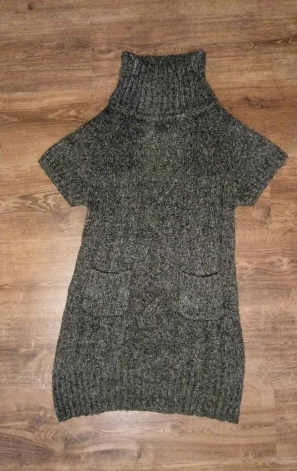 Swetry Ciepły długi sweter tunika L XL stan idealny