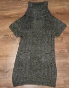 Ciepły długi sweter tunika L XL stan idealny