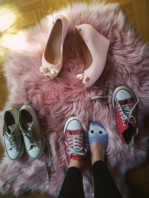 Trampki Używane buty trampki balerinki szpilki fetysz converse