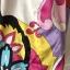 Kolorowa wzorzysta sukienka letnia rozkloszowana rozm 42