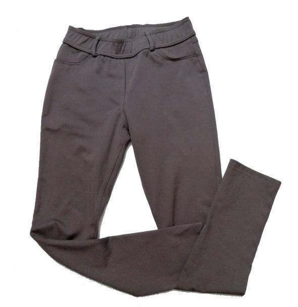 Spodnie wąskie nogawki jegginsy czekoladowe 38