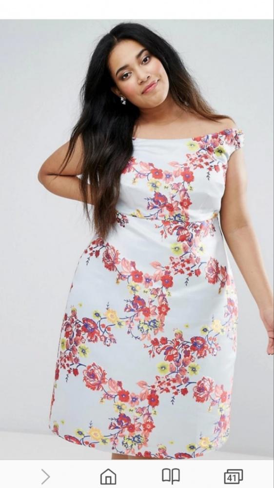 Suknie i sukienki sukienka asos curve exlusive