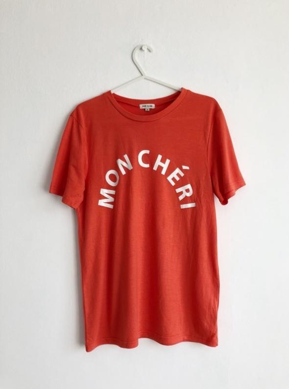 T-shirt River Island koralowy tshirt basic minimal